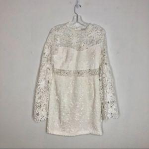 Endless Rose White Peekaboo Lace Dress M NWT